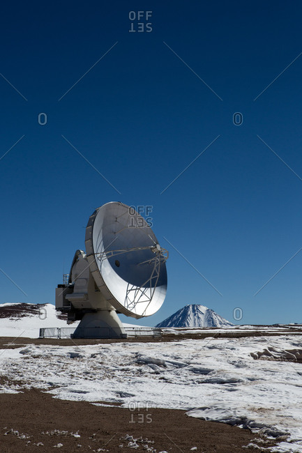 Santiago, Chile - July 10, 2013: Antennas at Atacama Large Millimeter/submillimeter Array (ALMA), Chajnantor Plateau, Atacama, Chile