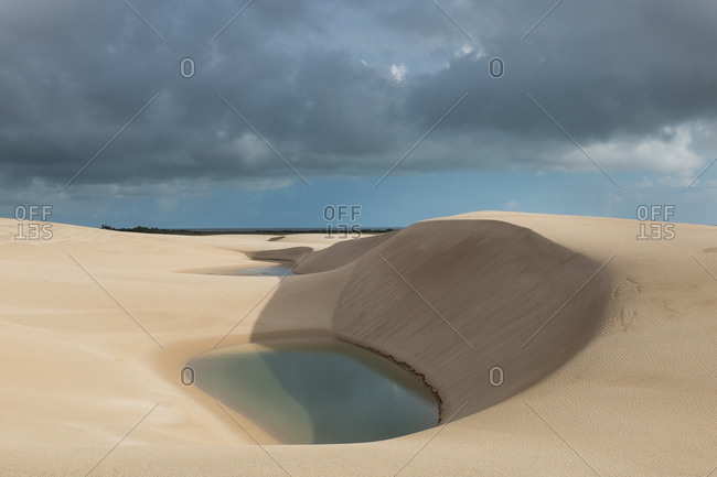 Lagoons in the sand Dunes