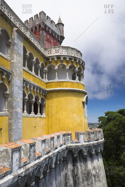 View of palace, Sintra, Portuga