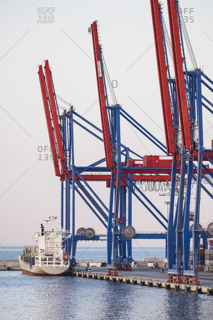 Cargo container in harbor