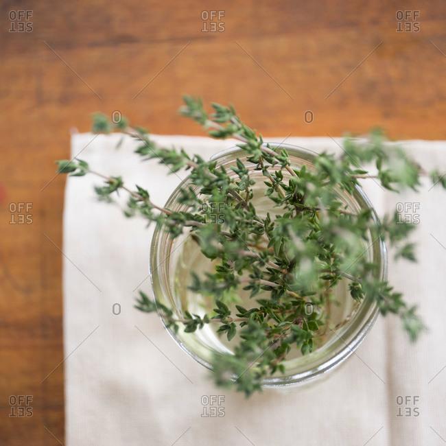 Thyme in a jar