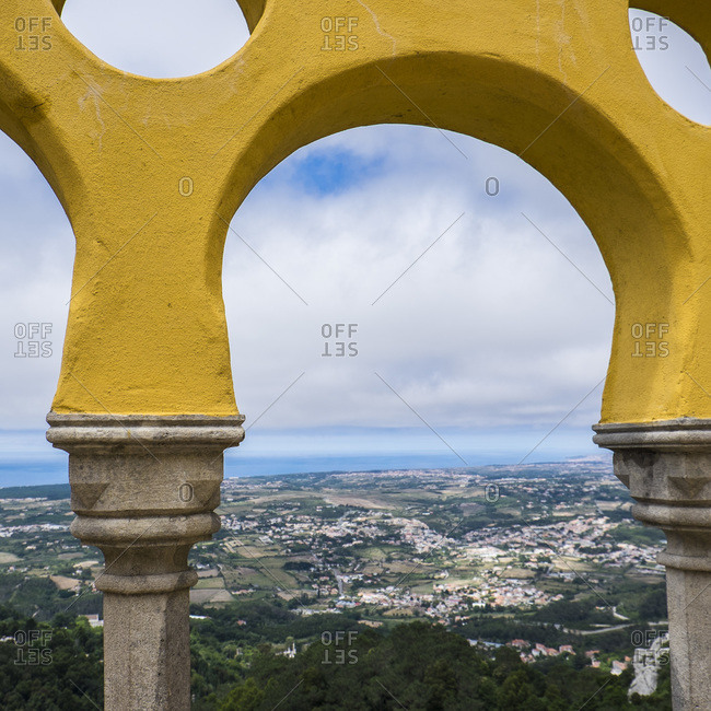 Scenic view from Palace of Sintra, Portugal