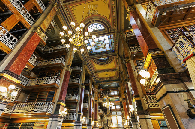 Old library in Iowa State Capitol