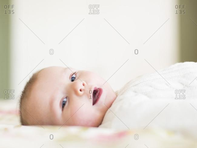 Studio shot of Baby boy (2-5 months)