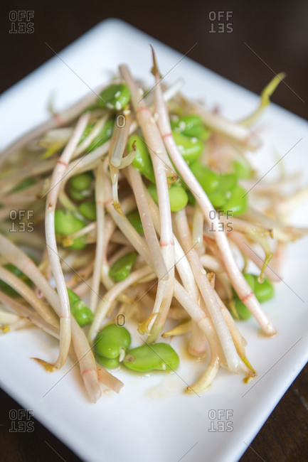 Bean sprouts and green bean salad