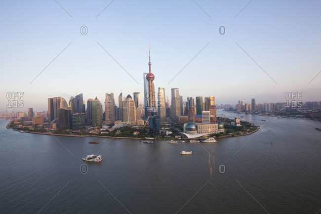 The skyscrapers of Pudong, Shanghai