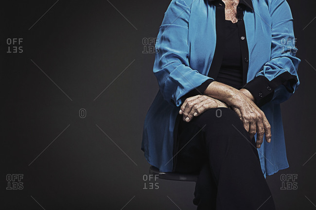 Portrait of strong retired woman