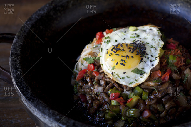 The Stone Pot dish combines many ingredients