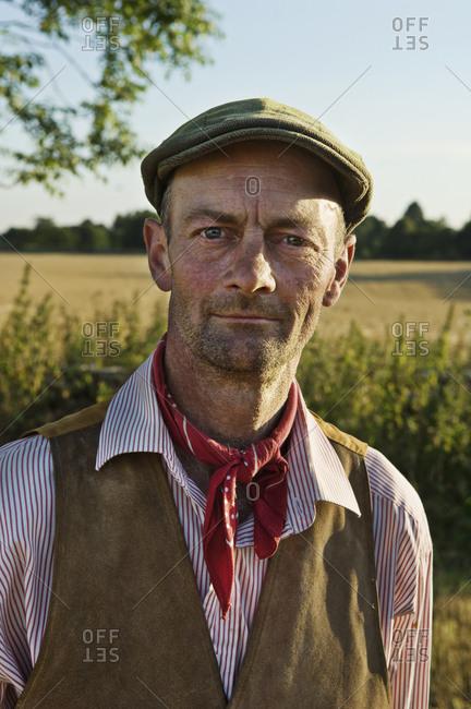 Portrait of an English farmer