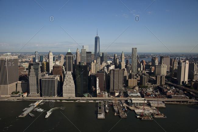 New York, NY, USA - September 17, 2014: One World Trade Center in Lower Manhattan, New York City