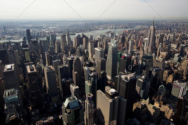 New York, NY, USA - September 17, 2014: Skyscrapers in Midtown Manhattan