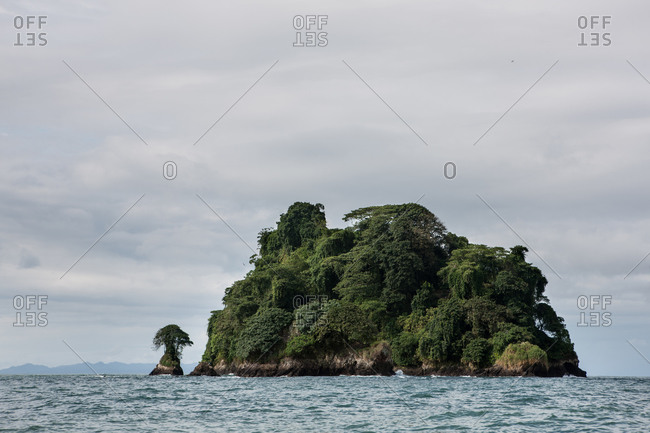 An islet in the Gulf of Tribug�, in Colombia