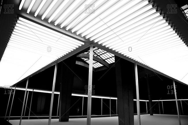 Empty auditorium before a fashion show