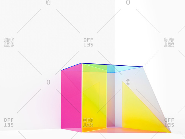 Studio shot of a colorful box