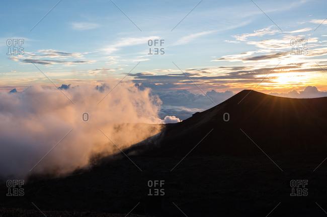 Mauna Kea in the clouds