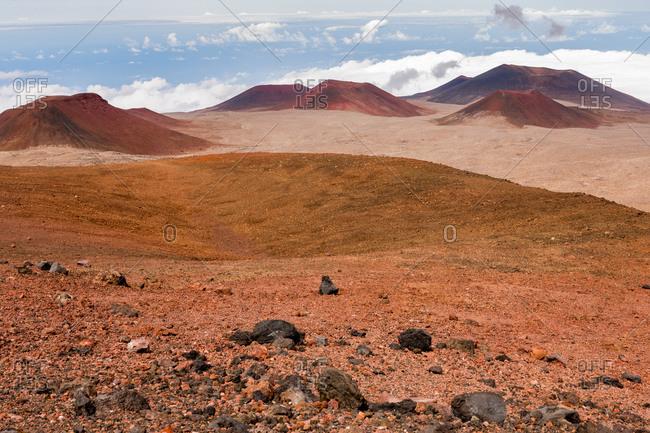 Mauna Kea peaks and field