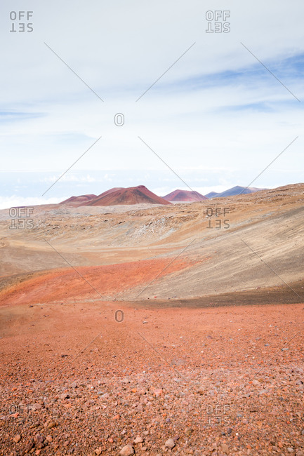 Barren rocky Hawaiian field