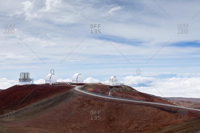 Mauna Kea observatory and road