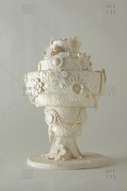 Seven tier wedding cake