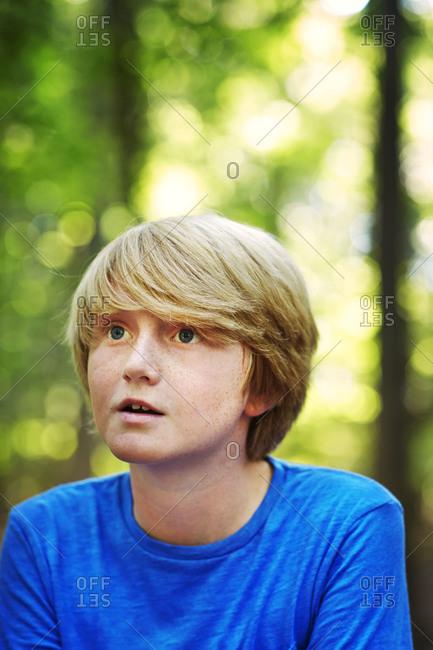 Portrait of a curious boy