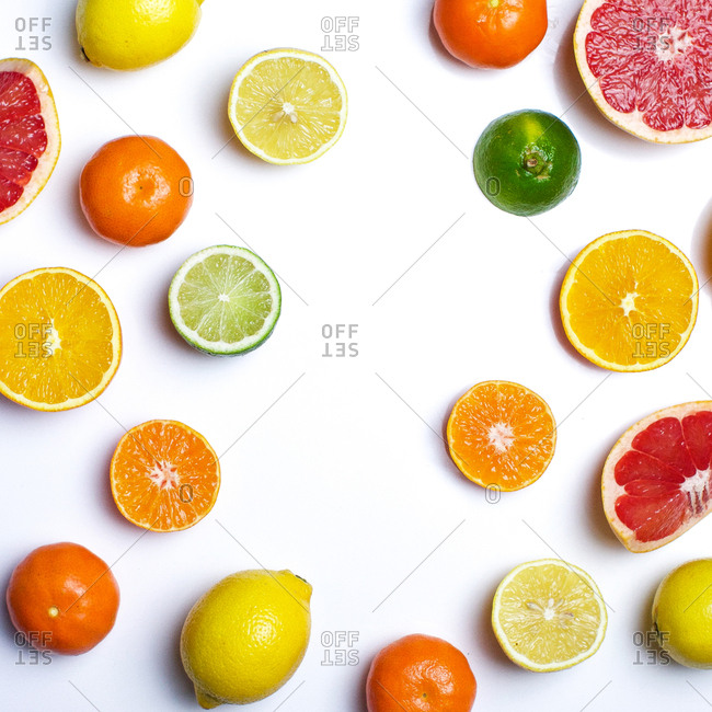 Studio shot of citrus assortment