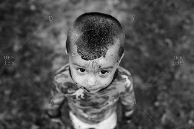 Portrait of a messy boy