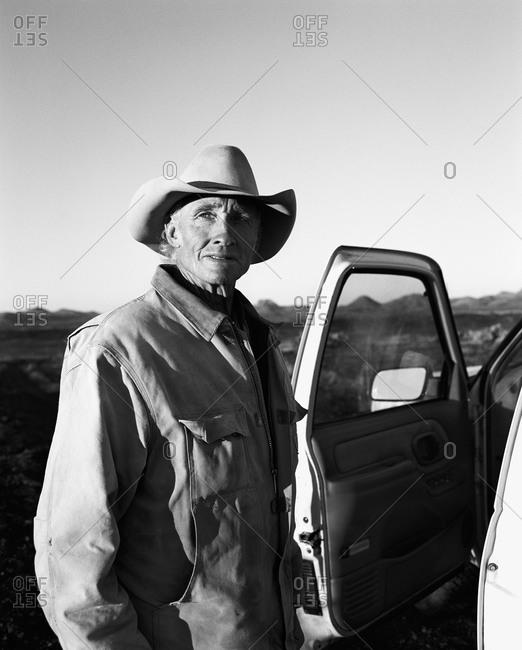 Cowboy at truck door