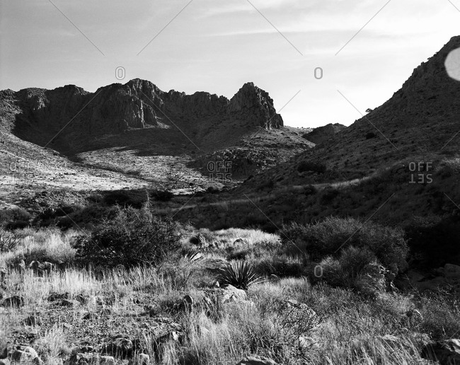 Rugged ranch landscape