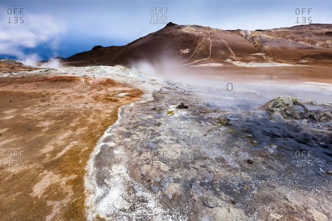 Geothermal area near Myvatn, Iceland