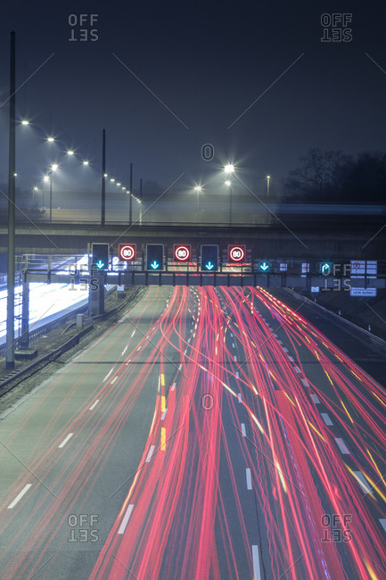 Evening rush hour on the Autobahn