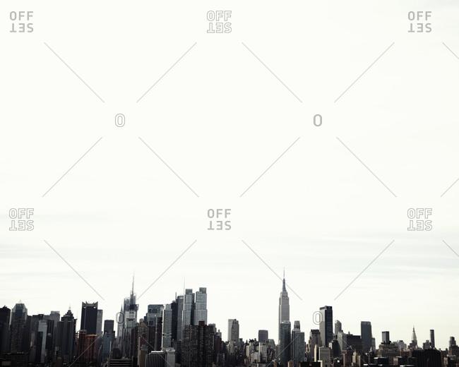 Manhattan skyline under a big sky