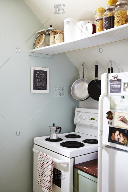Small kitchen with stove