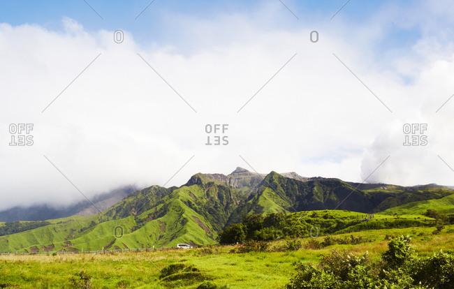 Landscape of craggy hills