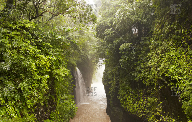 View of Takachiho Gorge at summer, Japan