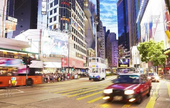 Hong Kong - August 9, 2014: Rush hour in Hong Kong, China
