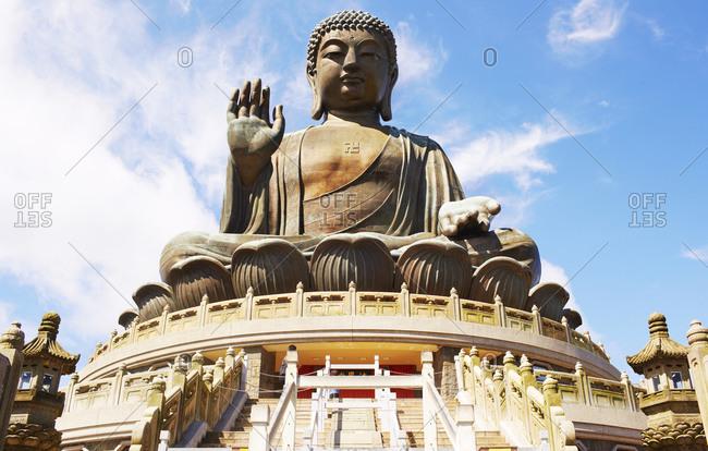 View of the Tian Tan Buddha Statue in China