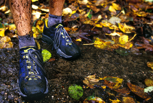 Wet and muddy trail running shoes