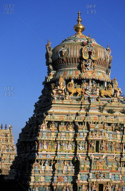 View of the Sri Meenakshi Temple in Tamil Nadu, India