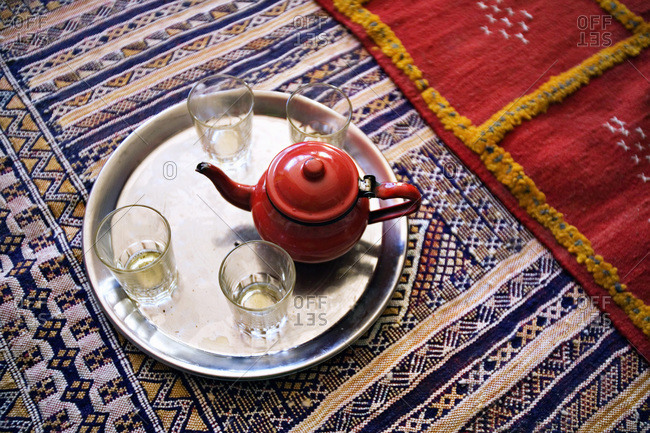 Moroccan tea display