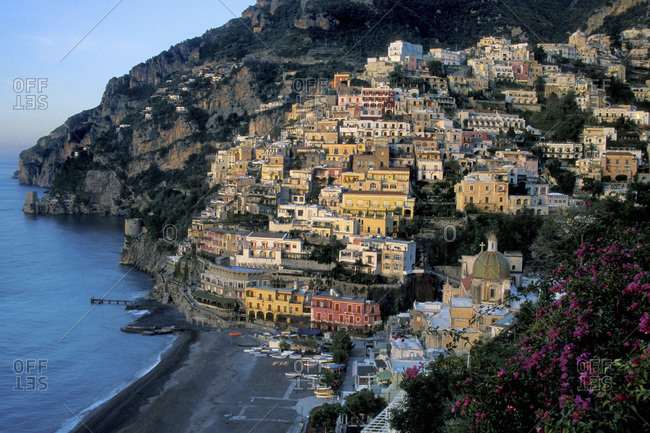 The town of Positano, Italy