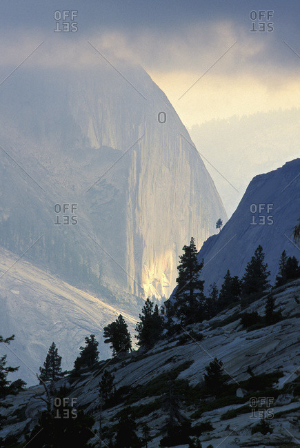 A view of Half Dome from Olmstead Point.