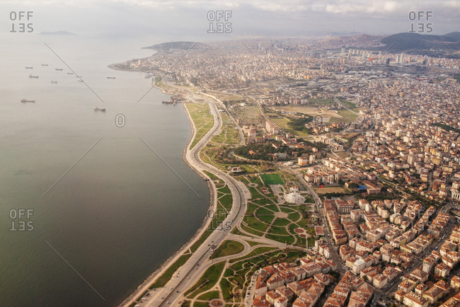 Aerial view of Istanbul coast