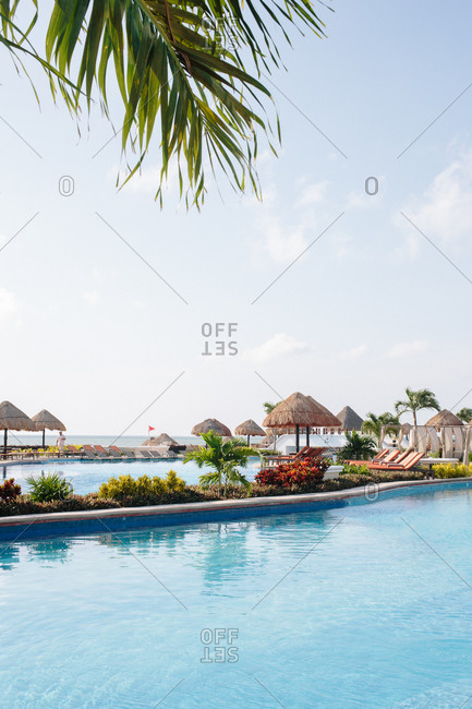 View of outdoor swimming pools