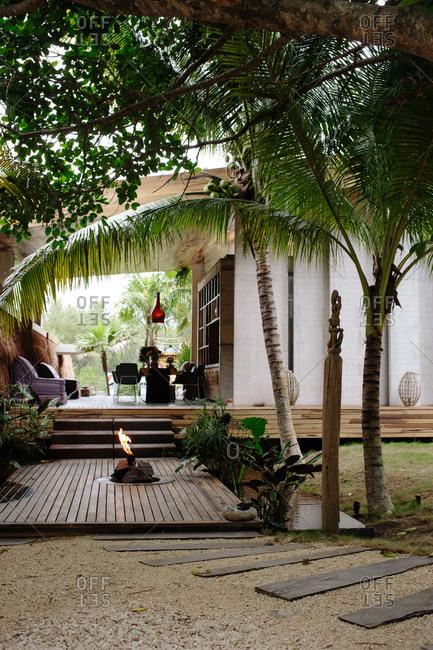Exterior of a spa resort