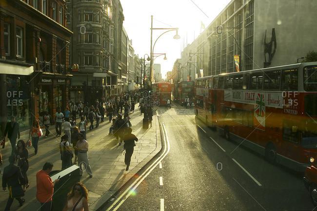 London, England - September 12, 2004: Rush hour in London