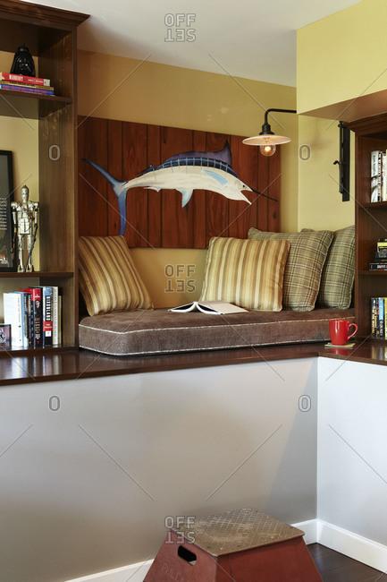 Den corner lounge area