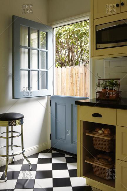 Dutch doors in kitchen