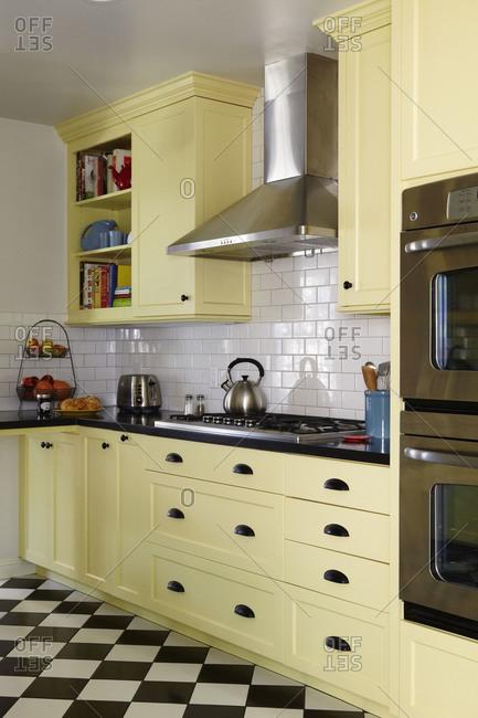 Kitchen appliances in farmhouse kitchen