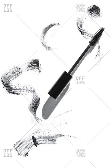 Mascara smudges on a white background