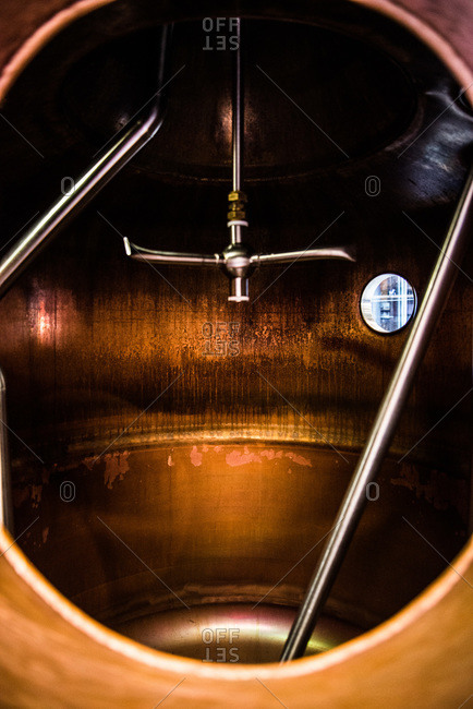 View of a brewery machine